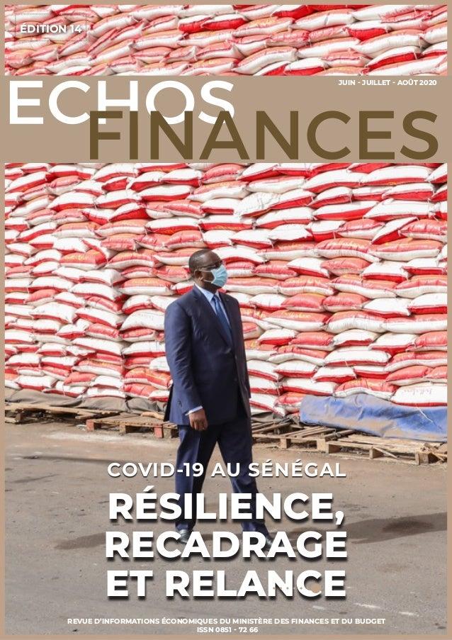 ÉDITION 14 REVUE D'INFORMATIONS ÉCONOMIQUES DU MINISTÈRE DES FINANCES ET DU BUDGET ISSN 0851 - 72 66 RÉSILIENCE, RECADRAGE...