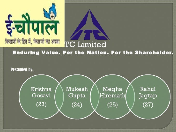 ITC Limited  Enduring Value. For the Nation. For the Shareholder. Presented by.