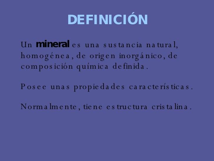 Recursos minerales for Origen y definicion de oficina
