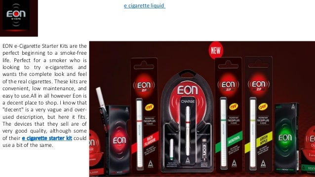 EON e-Cigarette Starter Kits are the perfect beginning to a smoke-free life. Perfect for a smoker who is looking to try e-...