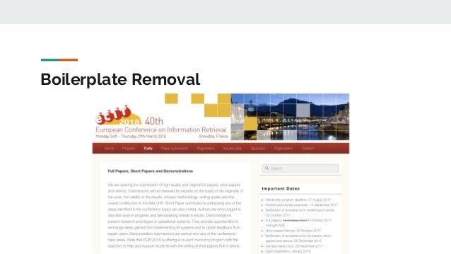 Boilerplate Removal