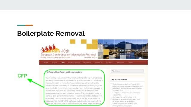 Boilerplate Removal CFP