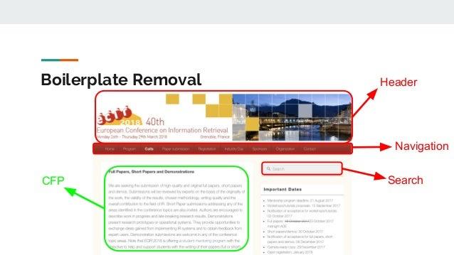 Boilerplate Removal CFP Header Navigation Search