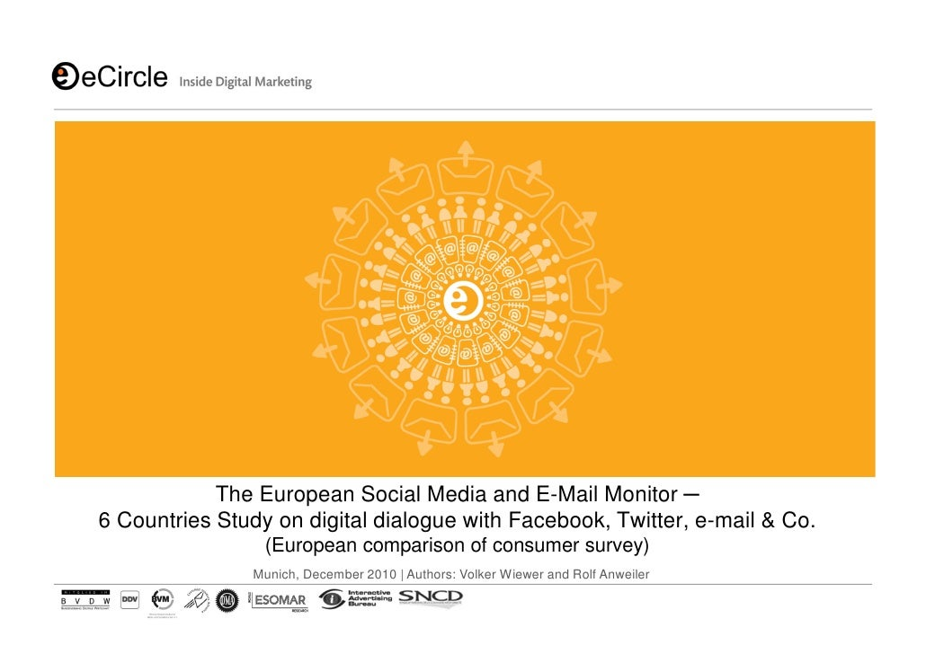 eCircle Cross Country Comparison - The European Social Media And Email Monitor