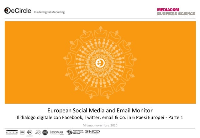 European Social Media and Email Monitor Il dialogo digitale con Facebook, Twitter, email & Co. in 6 Paesi Europei - Parte ...