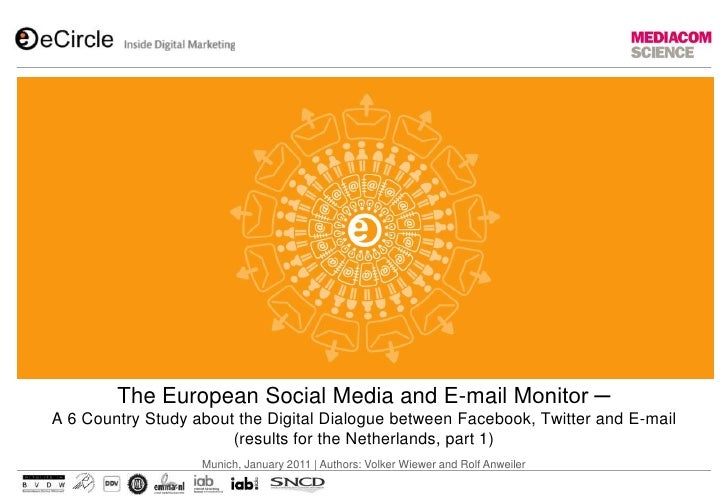 The European Social Media and E-mail Monitor ─ A 6 Country Study about the Digital Dialogue between Facebook, Twitter and ...