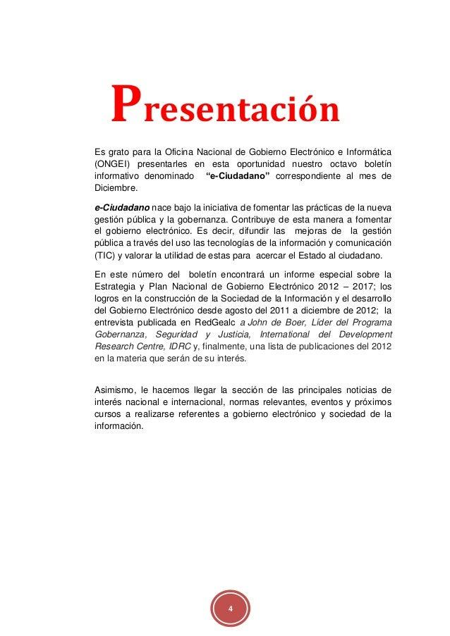 Gobierno electr nico boletin e ciudadano diciembre 2012 for Oficina del ciudadano