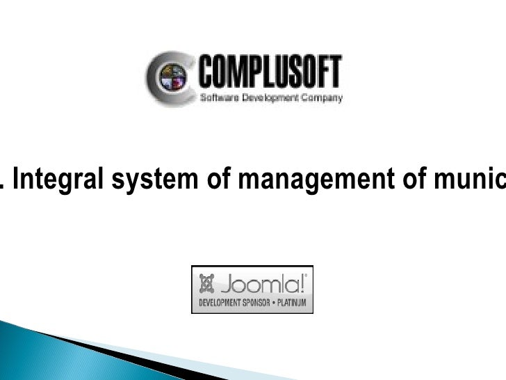 . Integral system of management of munic           Complusoft