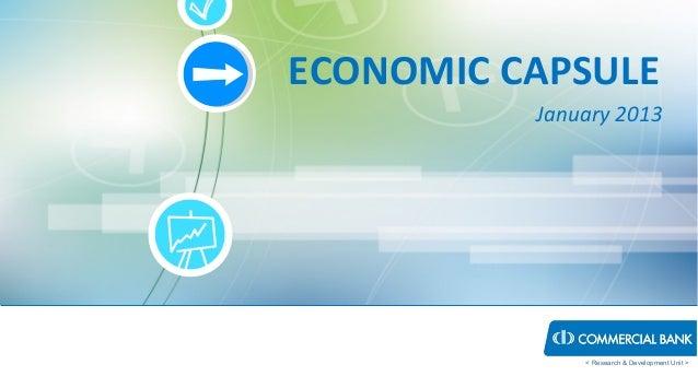ECONOMIC CAPSULE          January 2013              < Research & Development Unit >