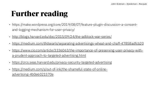 https://10up.com/about/ https://10up.com/careers/ John Eckman •@jeckman •#wcpub Q&A