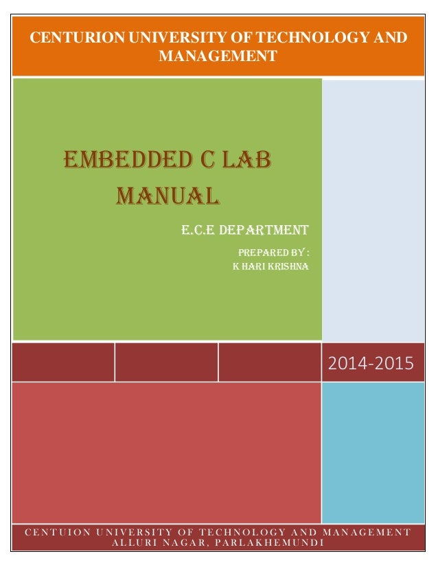 Embedded c lab and keil c manual
