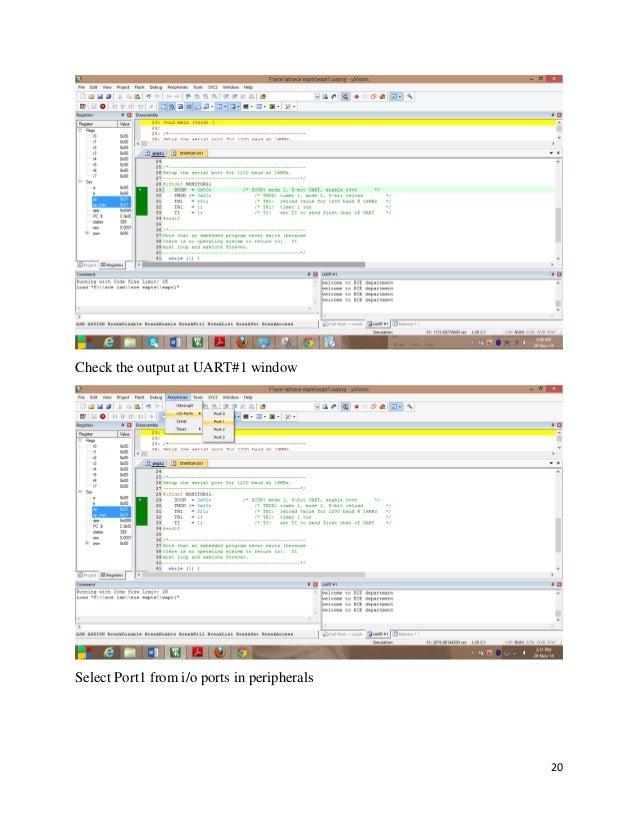 Embedded c lab and keil c manual