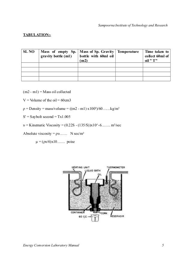mechanical 6th sem energy conversion system lab manuals