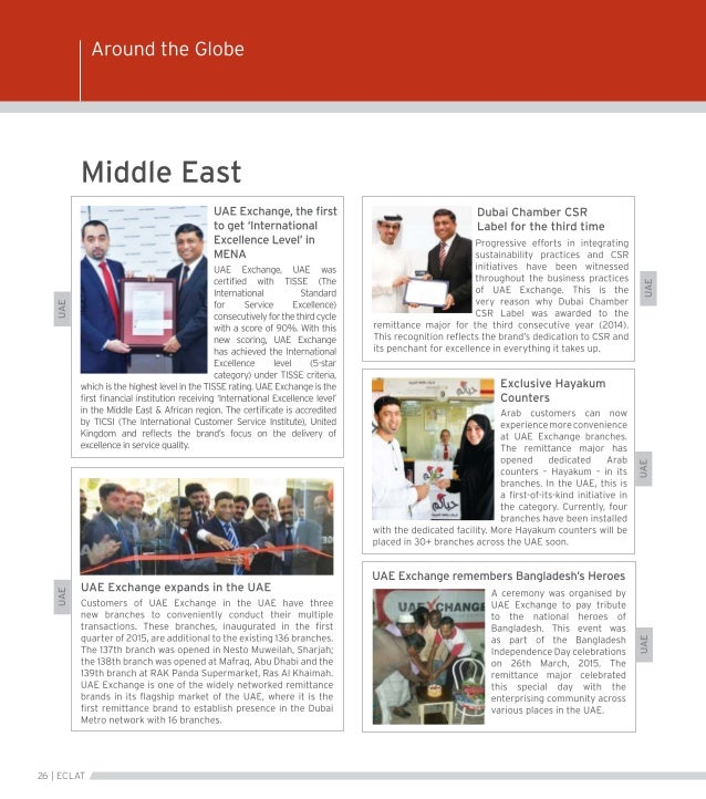 Eclat - Corporate News Magazine | UAE Exchange