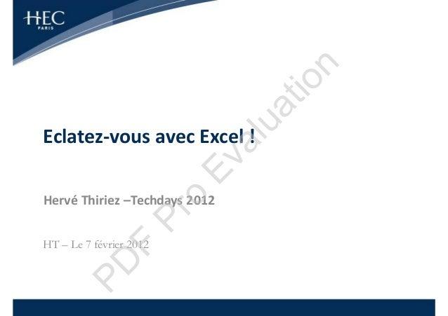 n                                    tio                               uaEclatez-vous avec Excel !                        ...