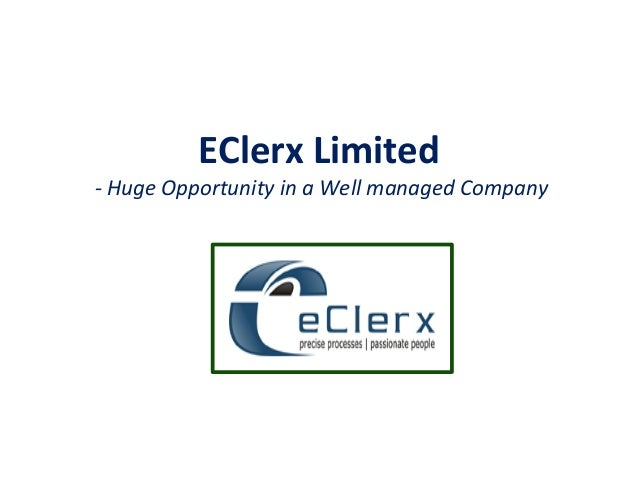 EClerx Limited - Huge Opportunity in a Well managed Company