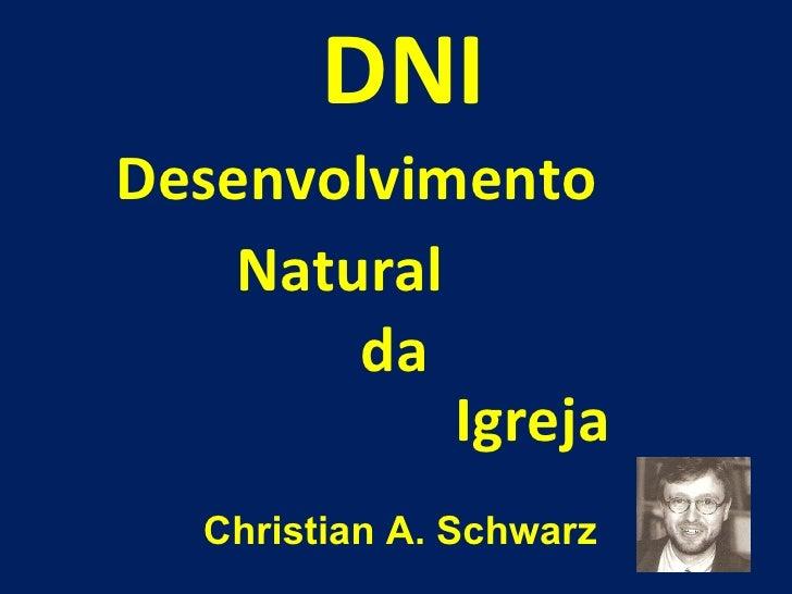 Desenvolvimento DNI Natural da Igreja Christian A. Schwarz