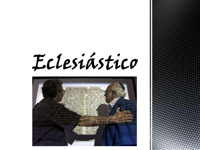 Nos encontramos ante el ejemplo más completo de literatura sapiencial judía. La obra, única en el AT que lleva la firma de...