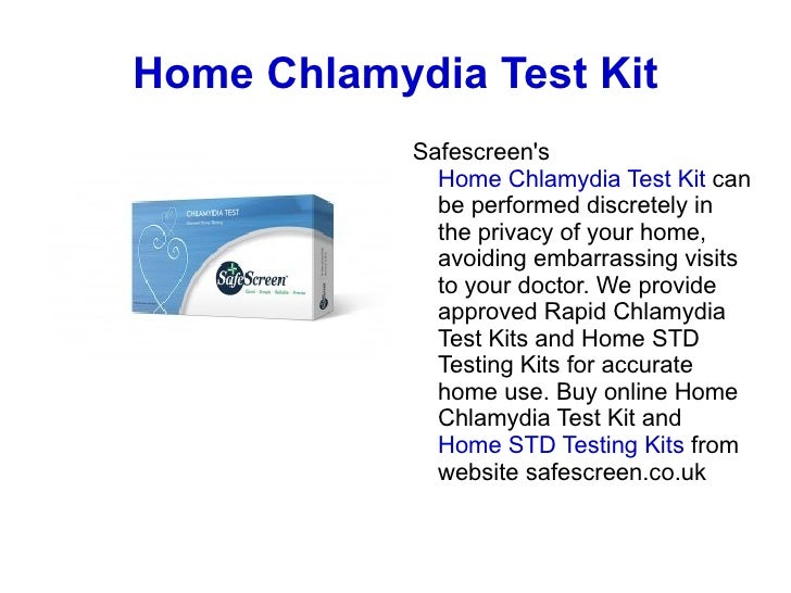 Home Chlamydia Test ...
