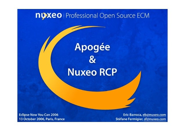 Eclipse Apogee and Nuxeo RCP
