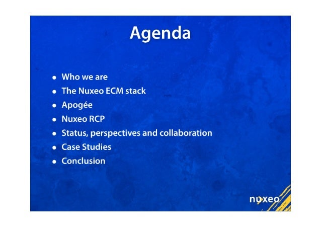 Eclipse Apogee and Nuxeo RCP Slide 2