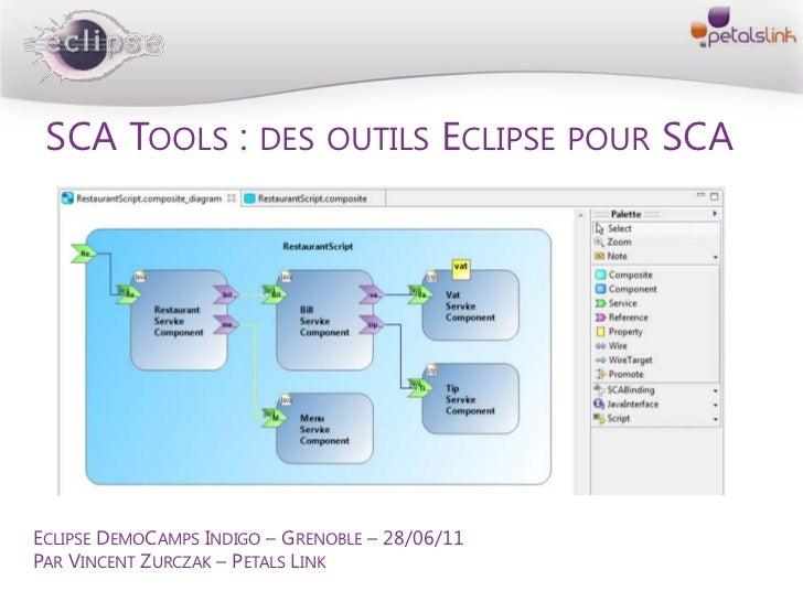 SCA Tools : des outils Eclipse pour SCA<br />Eclipse DemoCamps Indigo – Grenoble – 28/06/11<br />Par Vincent Zurczak – Pet...