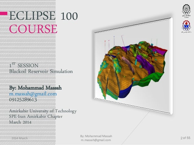 eclipse 100 petroleum reservoir simulation course rh slideshare net Lunar Eclipse Interactive Lunar Eclipse Interactive