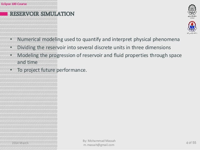 eclipse 100 petroleum reservoir simulation course rh slideshare net