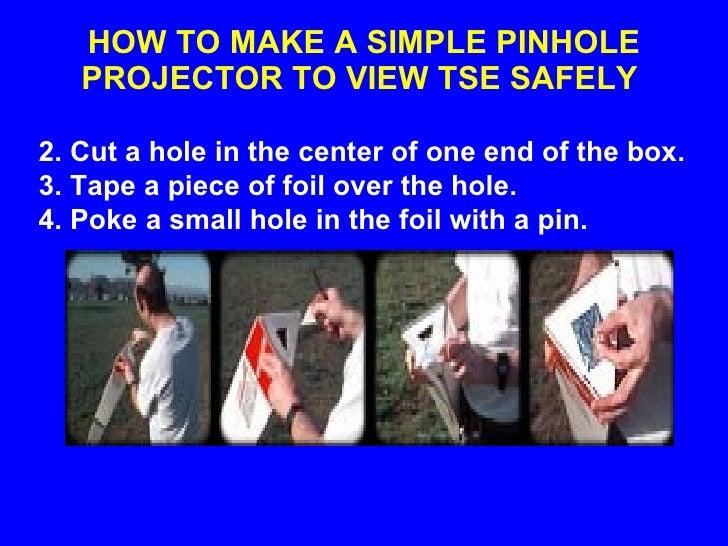 how to make a pinhole projector tube