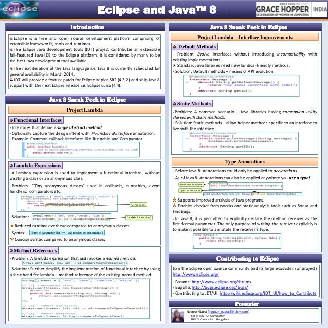Eclipse is a free and open source development platform comprising of extensible frameworks, tools and runtimes. The Eclips...