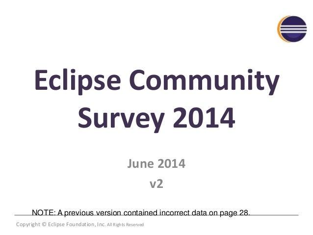 Eclipse community survey 2014 v2