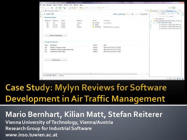 Mario Bernhart, Kilian Matt, Stefan ReitererVienna University of Technology, Vienna/AustriaResearch Group for Industrial S...