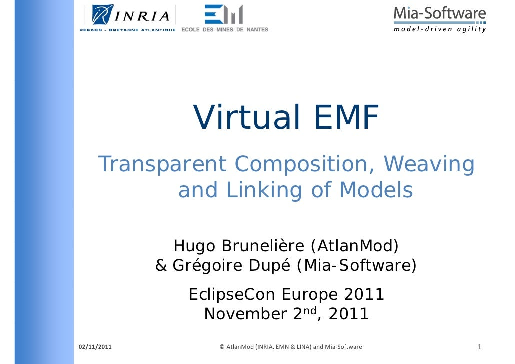 Virtual EMF     Transparent Composition Weaving                 Composition,            and Linking of Models             ...