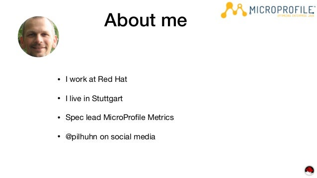 The Monitoring and Metic aspects of Eclipse MicroProfile Slide 3
