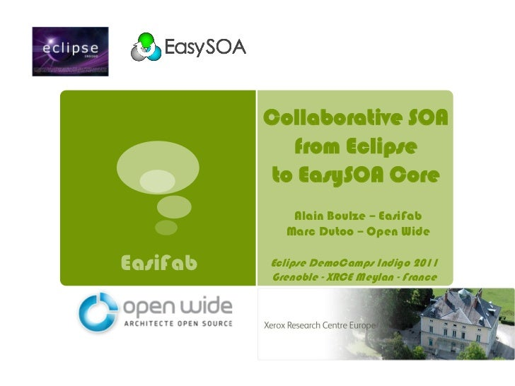 Collaborative SOA             from Eclipse           to EasySOA Core             Alain Boulze – EasiFab            Marc Du...