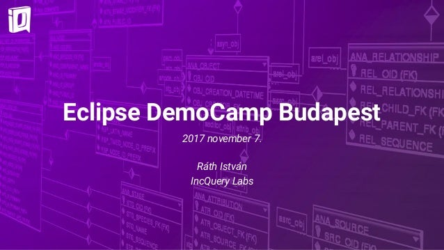 Eclipse DemoCamp Budapest 2017 november 7. Ráth István IncQuery Labs
