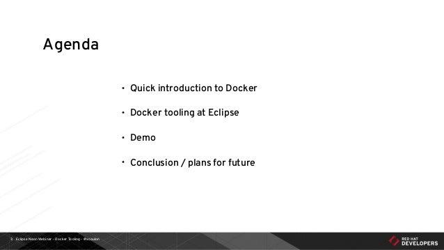 Eclipse Neon Webinar - Docker Tooling for Developers Slide 3