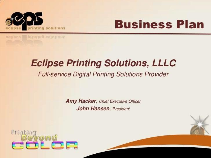 large format printing business plan