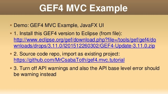 Eclipse RCP Demo