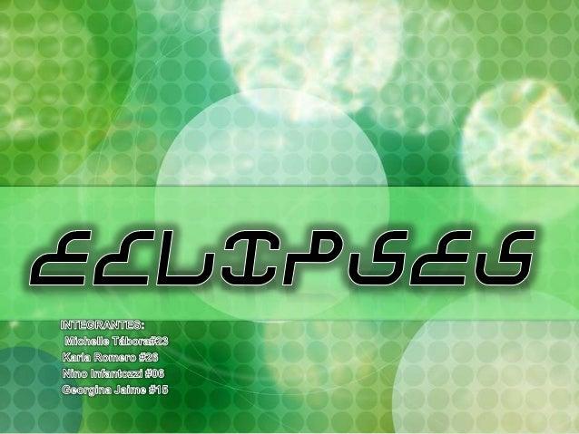 Eclipse viene del griego ekleipsis que significa desaparición. Un eclipse, al igual que los tránsitos, y ocultaciones es u...