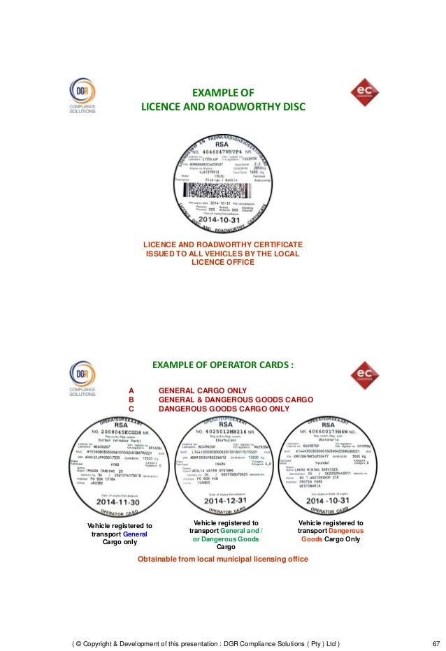 how to get dangerous goods license