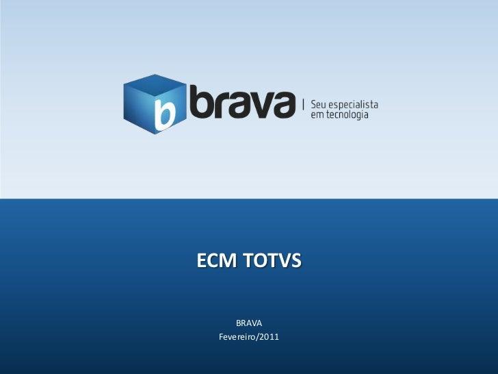 BRAVA<br />Fevereiro/2011<br />ECM TOTVS<br />