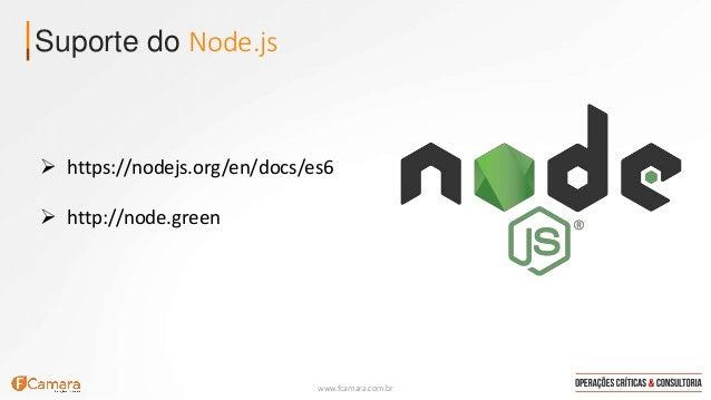 ECMAScript 6 / ECMAScript 2015 no Node.js Slide 2