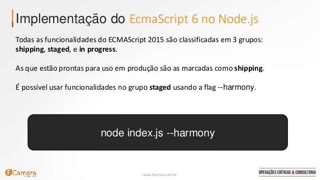 ECMAScript 6 / ECMAScript 2015 no Node.js Slide 3