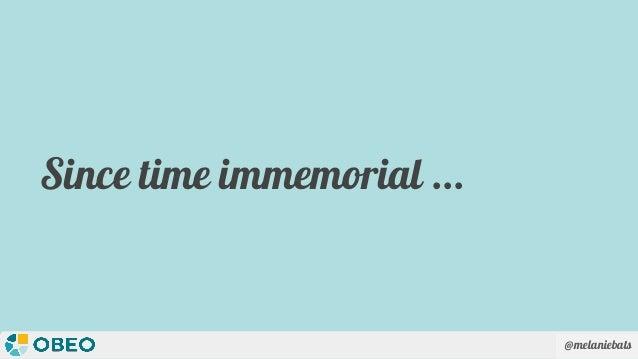 @melaniebats Since time immemorial ...