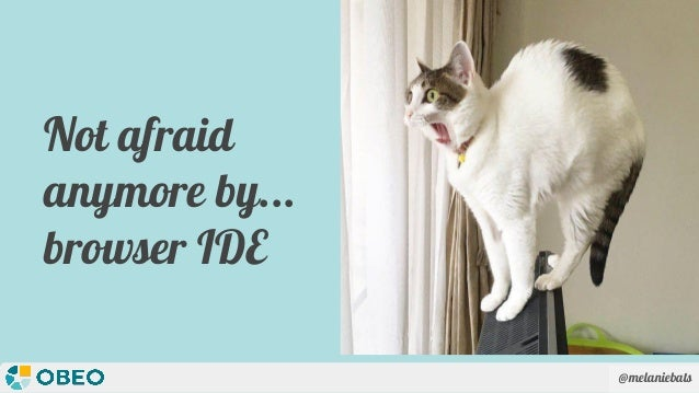 @melaniebats Not afraid anymore by... browser IDE