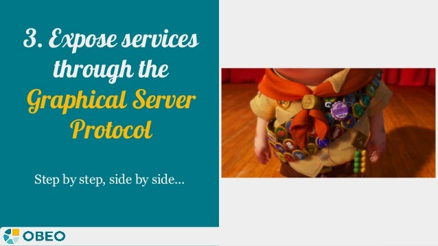 @melaniebats 3. Expose services through the Graphical Server Protocol Step by step, side by side...