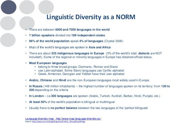 ECMI Project On Status Of Minority Languages And Languages Rights In - Total languages in world
