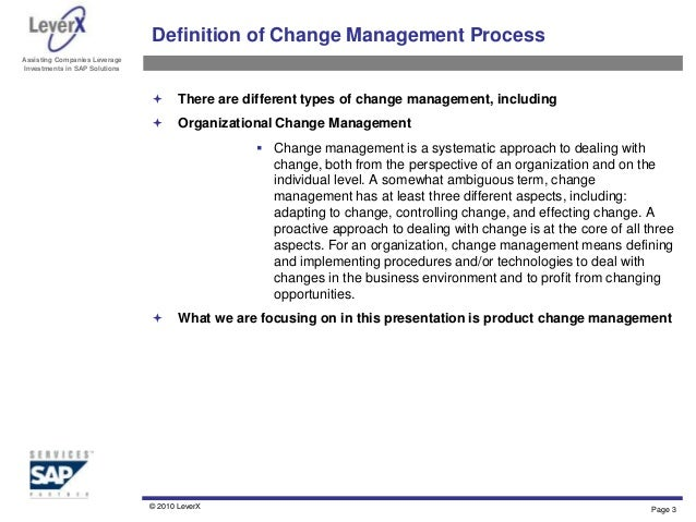 organizational change pcm Project methods the objectives will be achieved through the tasks summarized as follows: 1 other phase change material (pcm) from fats and oils will be identified.