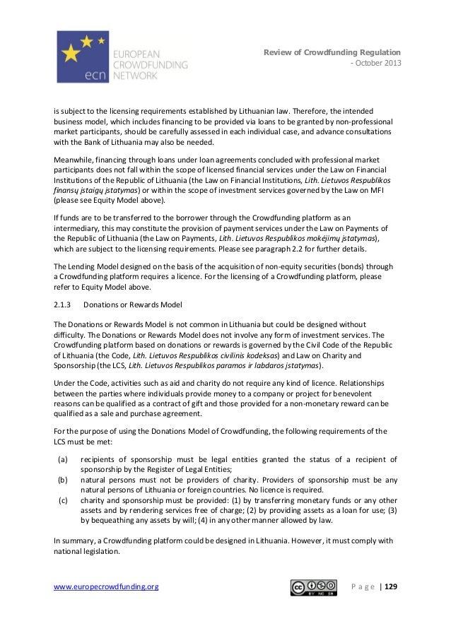 European Crowdfunding Network Review of International Crowdfunding Regulation 2013